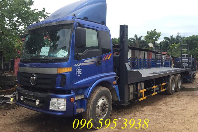 xe chở máy công trình thaco auman 3 chân
