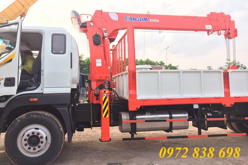 xe thaco auman c160 gắn cẩu kanglim 5 tấn