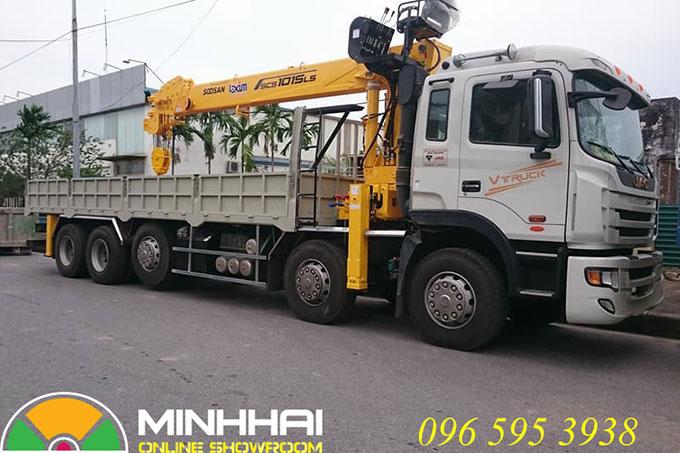 xe tải jac 5 chân gắn cẩu soosan 12 tấn