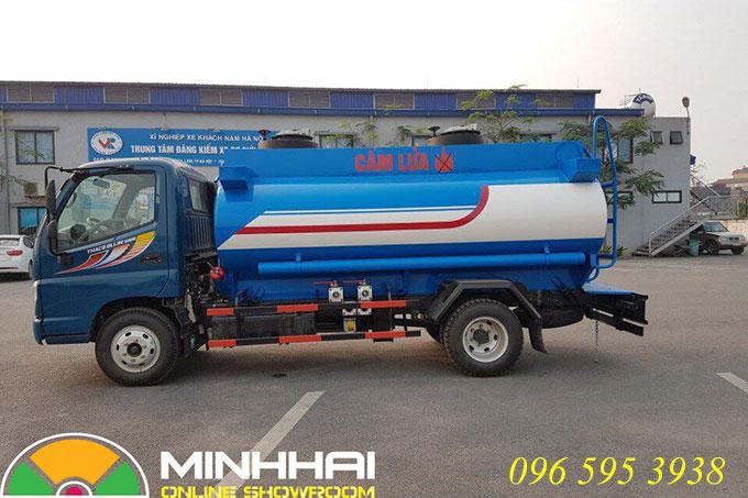 xe bồn chở xăng dầu 6 khối ollin 500b