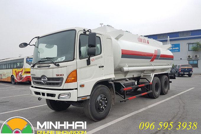 xe bồn chở xăng dầu Hino 19 khối