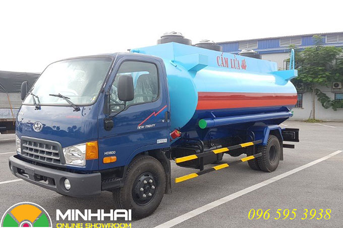 xe xitec chở xăng dầu hyundai hd800 9 khối