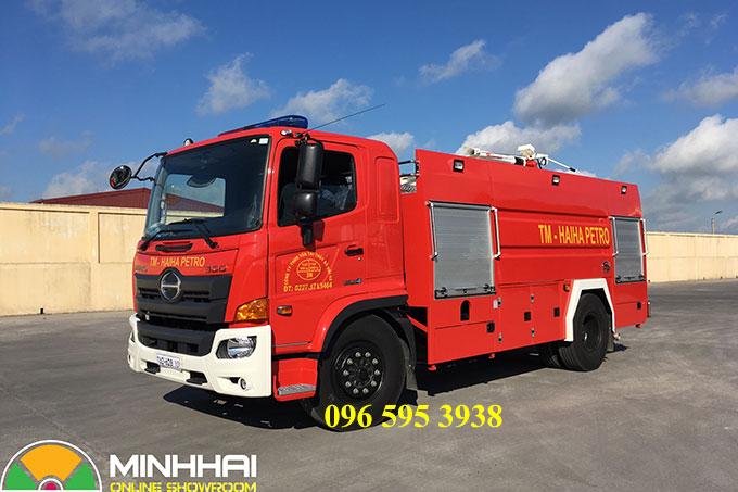 xe chữa cháy cứu hỏa hino 6 khối