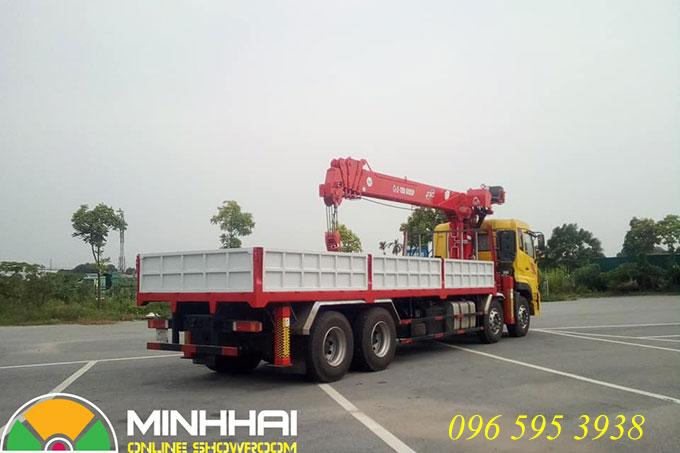 xe tải dongfeng gắn cẩu atom 14 tấn